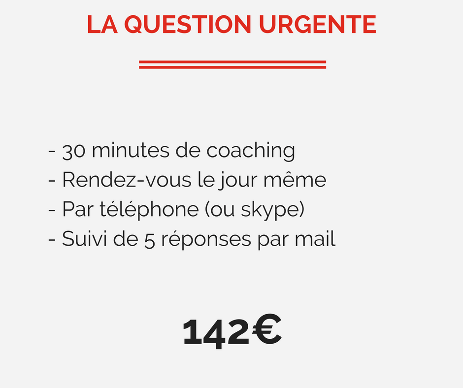 Coaching urgent